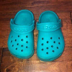 Teal Toddler crocs